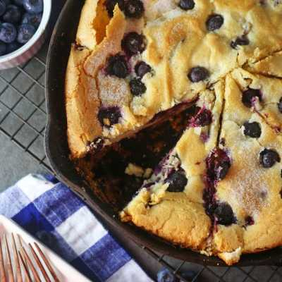 Blueberry Skillet Cake Recipe