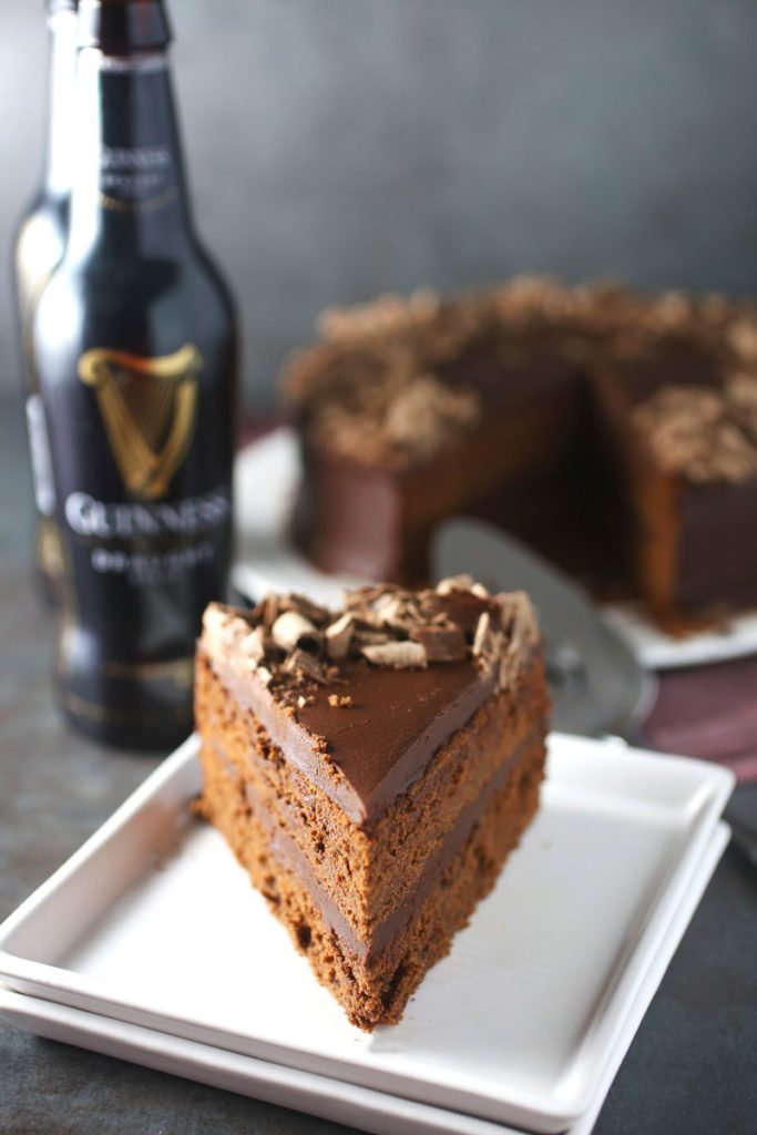 Chocolate Fudge Stout Cake with Chocolate Ganche Frosting