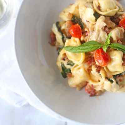Chicken BLT Cheese Tortellini Pasta
