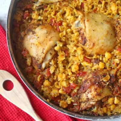 One Pan Mexican Chicken and Rice Recipe