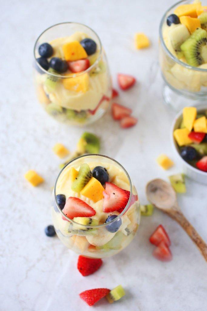 Easy Fruit Parfaits with Homemade Custard