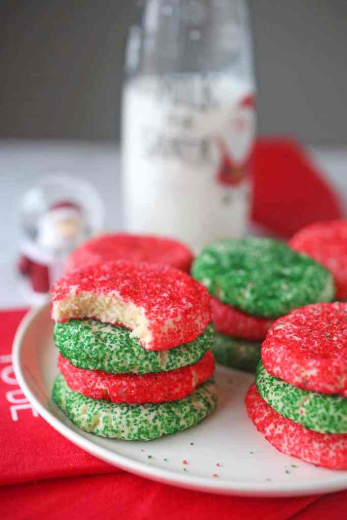 stacks of christmas butter cookies