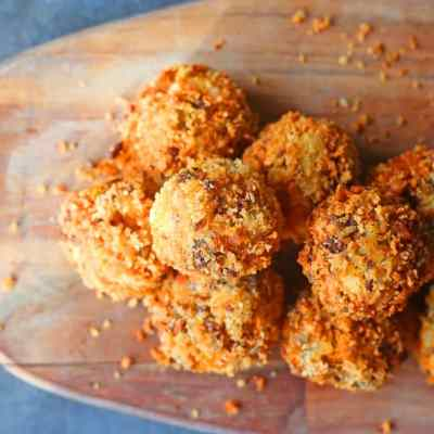 Fried Cheeseburger Balls