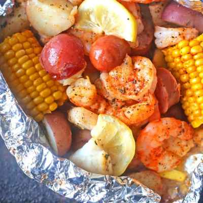 Seafood Boil Recipe in Foil Packets