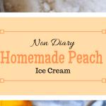 a bowl of homemade peach ice cream