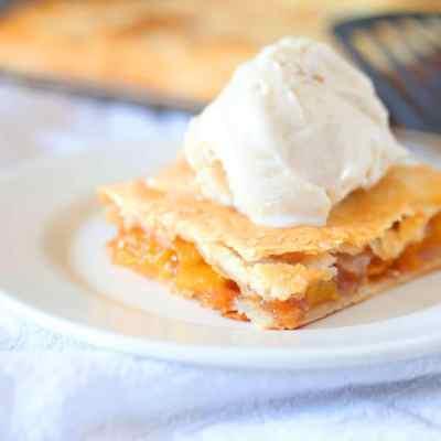 Homemade Peach Slab Pie & Yankee Candle
