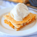 Homemade Peach Slab Pie
