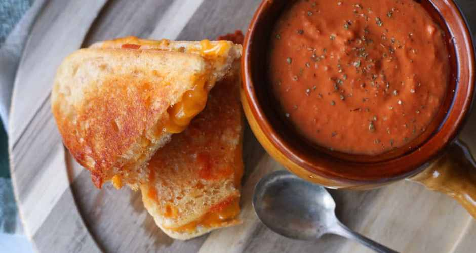 Easy Grilled Cheese and Creamy Tomato Soup Recipe