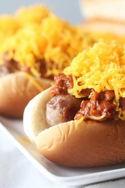 Cincinnati Style Chili Cheese Bratwurst