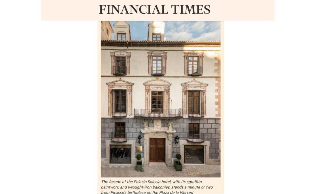 B/SV Arquitectos en el Financial Times: opinión del crítico Paul Richardson sobre el hotel Palacio de Solecio de Málaga