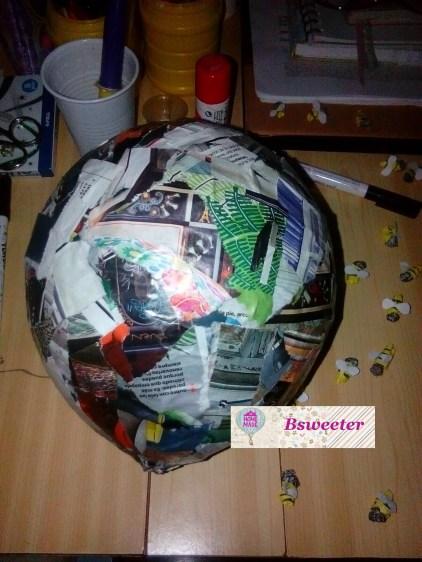 globo y papel