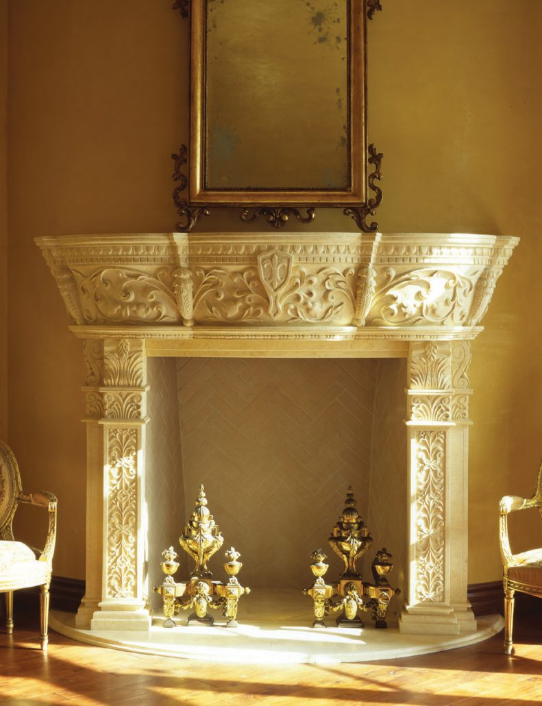 Custom Italian Amp Tuscan Stone Fireplace Mantels Bt Architectural Stone