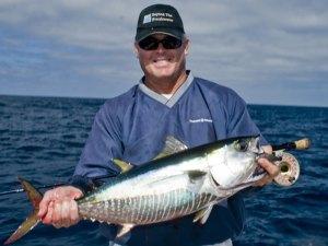 Floyd Sparks with a nice fly-rod sized yellowfin tuna