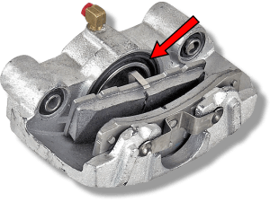 Disk brake caliper and the rubber boot