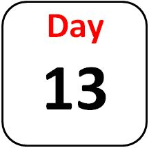 Image result for day 13