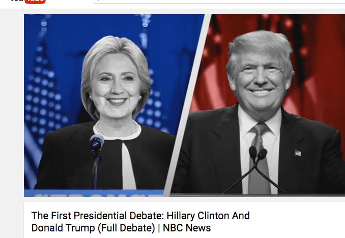 Trump Vs. Hillary 1st Presidential Debate