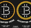 Accepted here: introducing the bitcoin neon sign