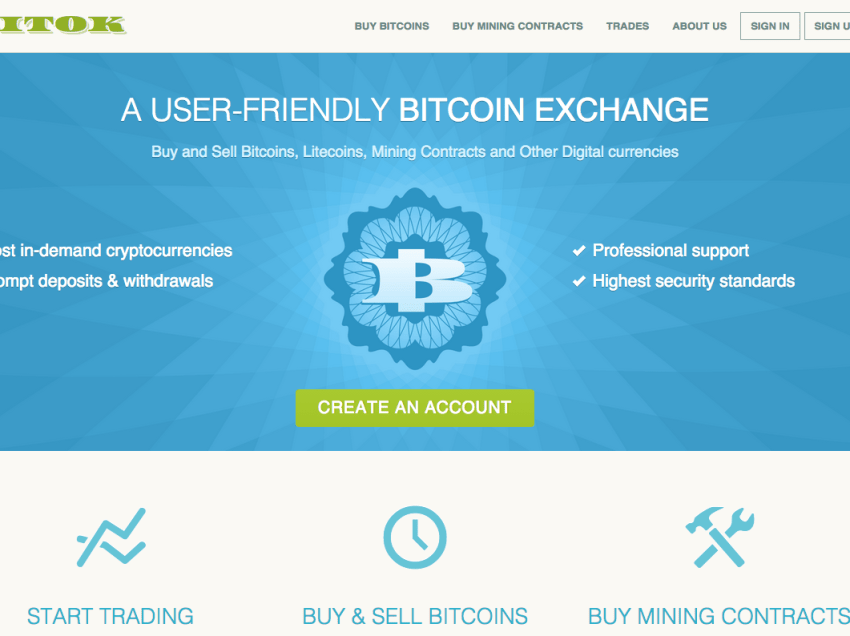 Bitok.com – A User-Friendly Bitcoin Exchange