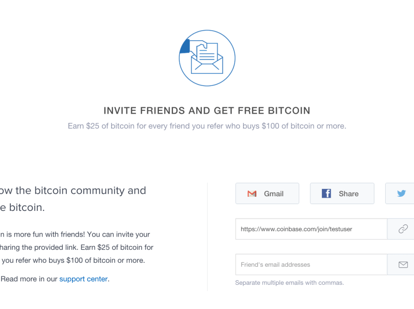 Coinbase Launches $25 Referral Bonus