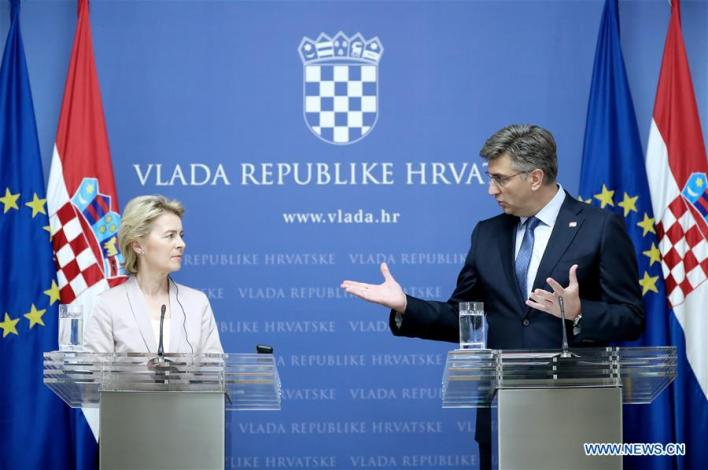 CROATIA-ZAGREB-URSULA VON DER LEYEN-VISIT