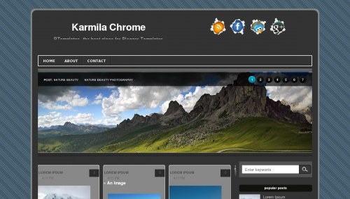 Download Karmila chrome template for blogger[best template] - ahir4you