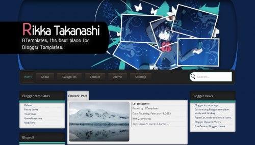 Download Rikka takanashi template for blogger[best template] - ahir4you