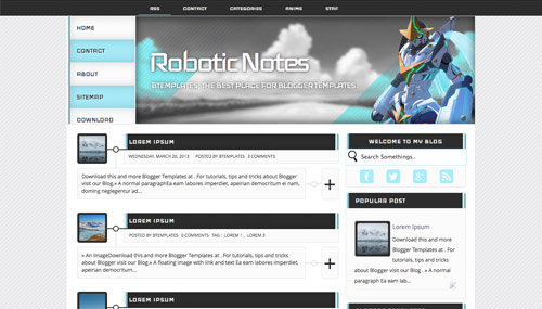 Download Robotics notes template for blogger[best template] - ahir4you