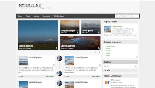 MyTimeLine Blogger Template BTemplates - Timeline blogger template