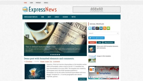 Expressnews blogger template btemplates live demo pronofoot35fo Image collections