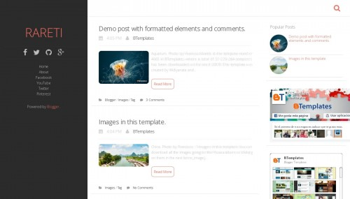 Rareti blogger template btemplates for Design your own blogger template free