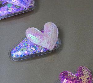 Heart Shade Transparent Hair Clip