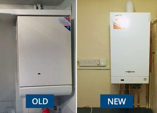 Replacing old boiler with Combi boiler, New Viessmann