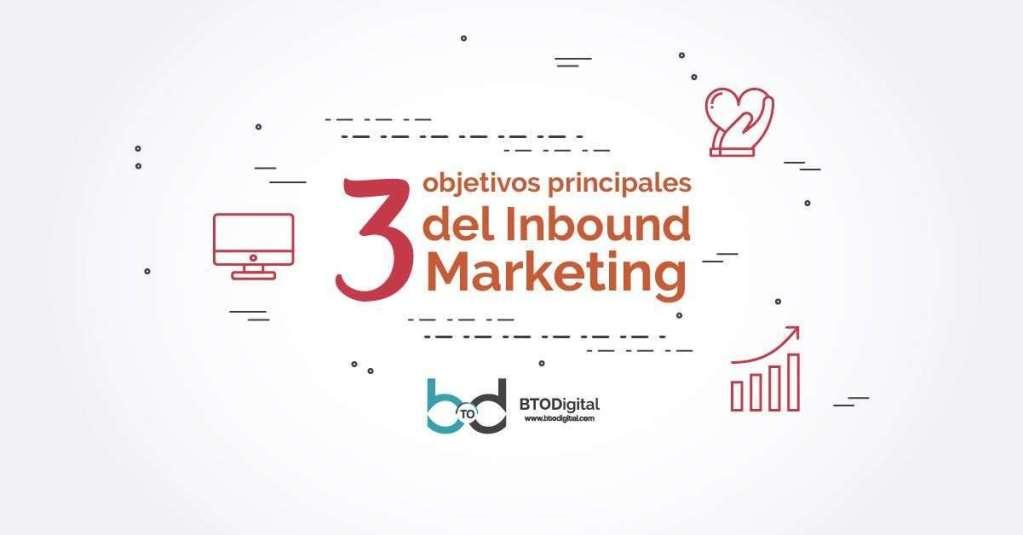 3 objetivos principales del Inbound Marketing
