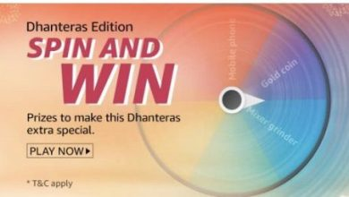 Amazon Dhanteras Edition spin and win quiz