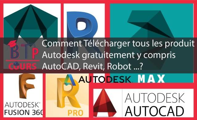 Logiciel Autodesk en téléchargement libre et gratuit