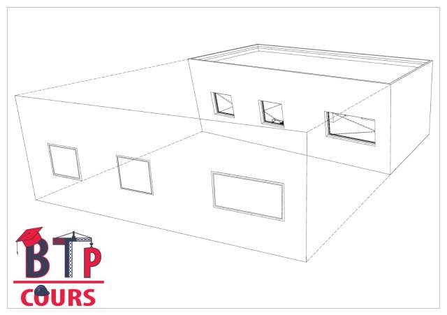 dessin de la façade a partir de la projection de la vue 3D