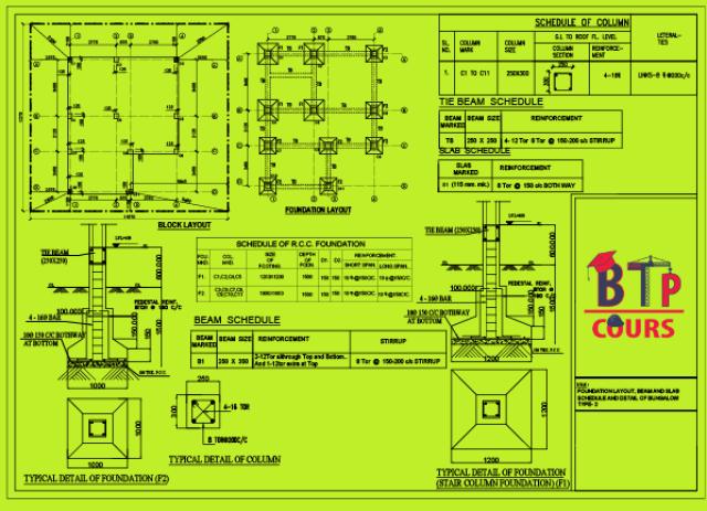 Télécharger plan DWG sur www.btp-cours.com