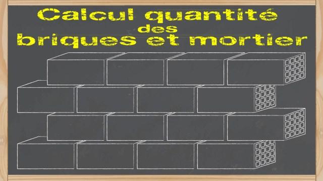 feuille excel calcul du nombre de brique et quantité de mortier