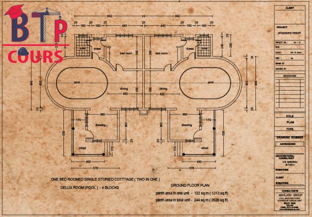 télécharger Plan DWG -Archi Villa