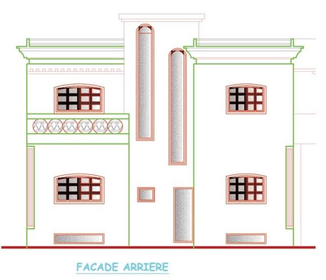 plan villa architecture en DWG