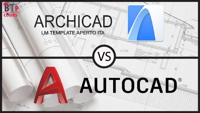 différence entre AutoCAD et ArchiCAD