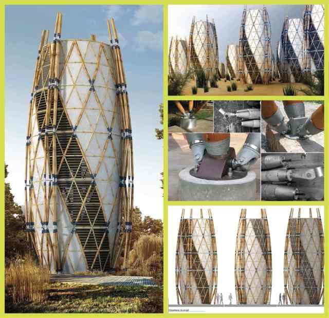 construction en bambou