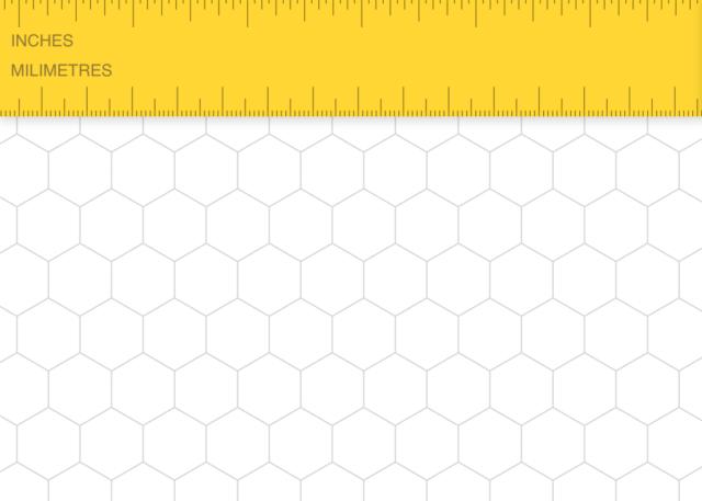 papier vierge sous forme hexagonale