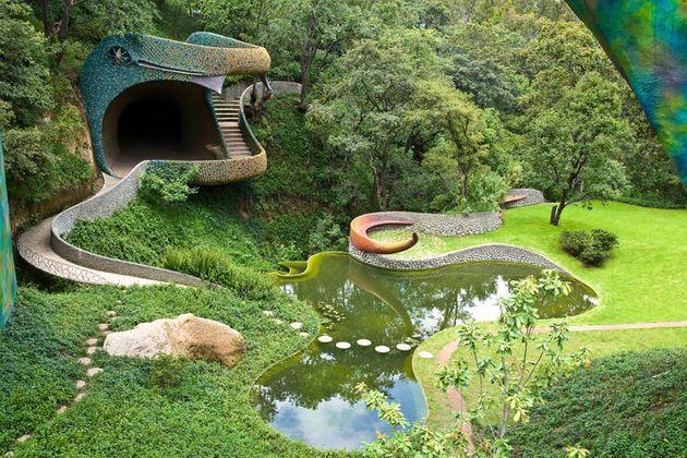 Le nid de Quetzalcoatl ou la maison serpent (Mexique)
