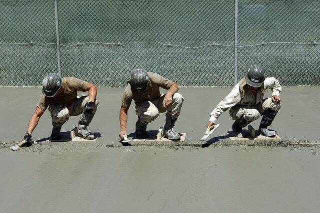 utilisation du ciment hydrophobe