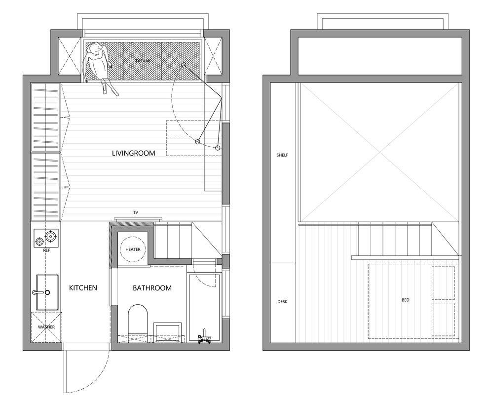 22m2 Apartment in Taiwan   A Little Design