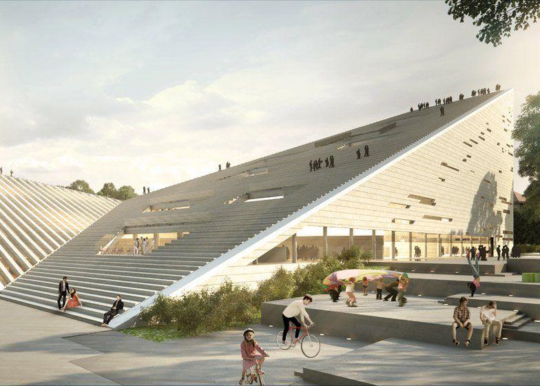 Nouvelle galerie nationale et musée Ludwig à Budapest proposition de Snohetta