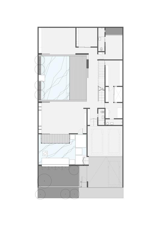 vue en plans Maison Entre 2 cours
