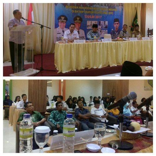 20 Orang Siswa Meranti Berkesempatan Sekolah Gratis di Batam Tourism Polytechnic