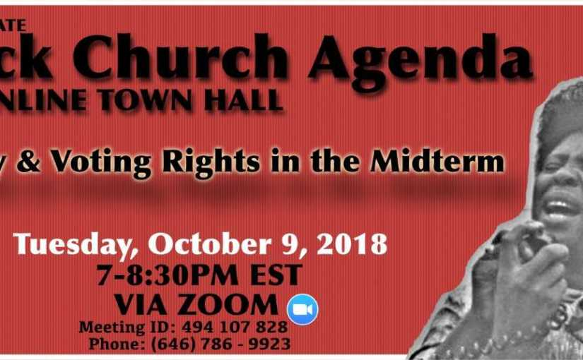 Poverty and Voting Rights in the Midterm #BlackChurchAgenda